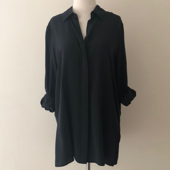 eb3a6934a8a31 NWT Acrobat Silk Relaxed Fit Blouse in Black